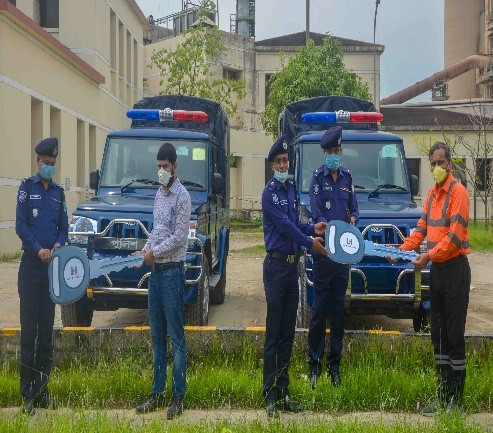 vehicles for local police stations